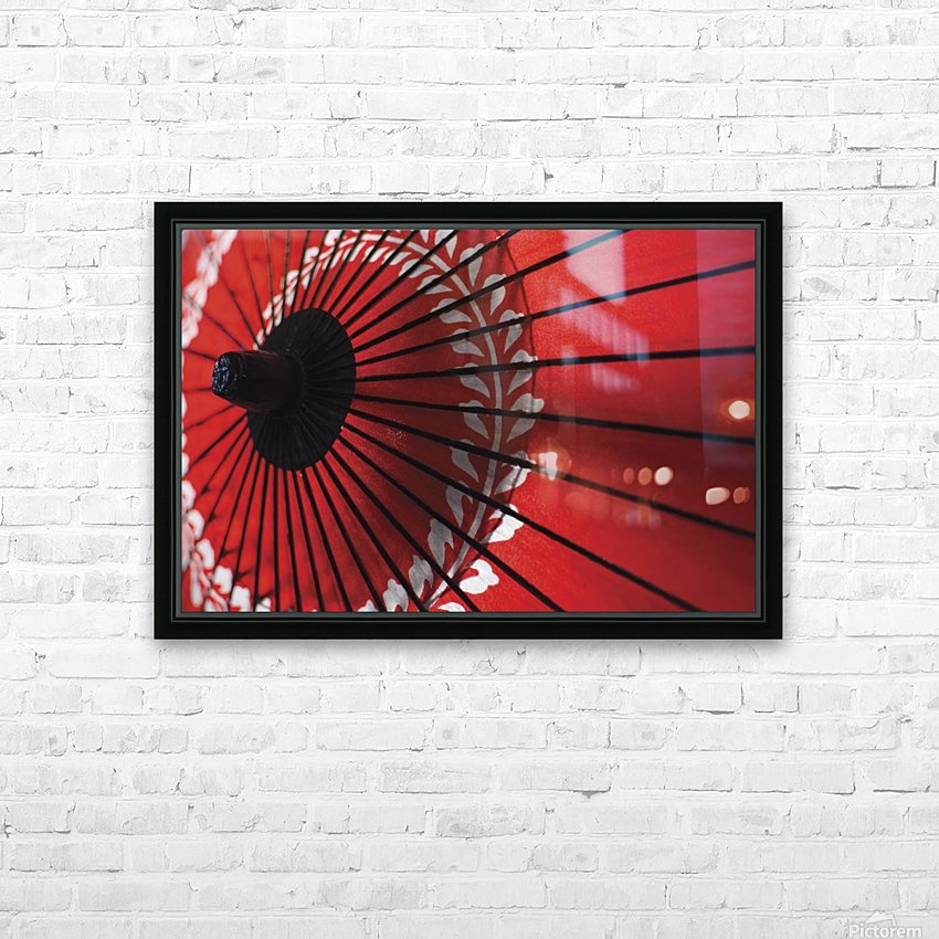 Japanese red umbrella; Kyoto, Japan HD Sublimation Metal print with Decorating Float Frame (BOX)