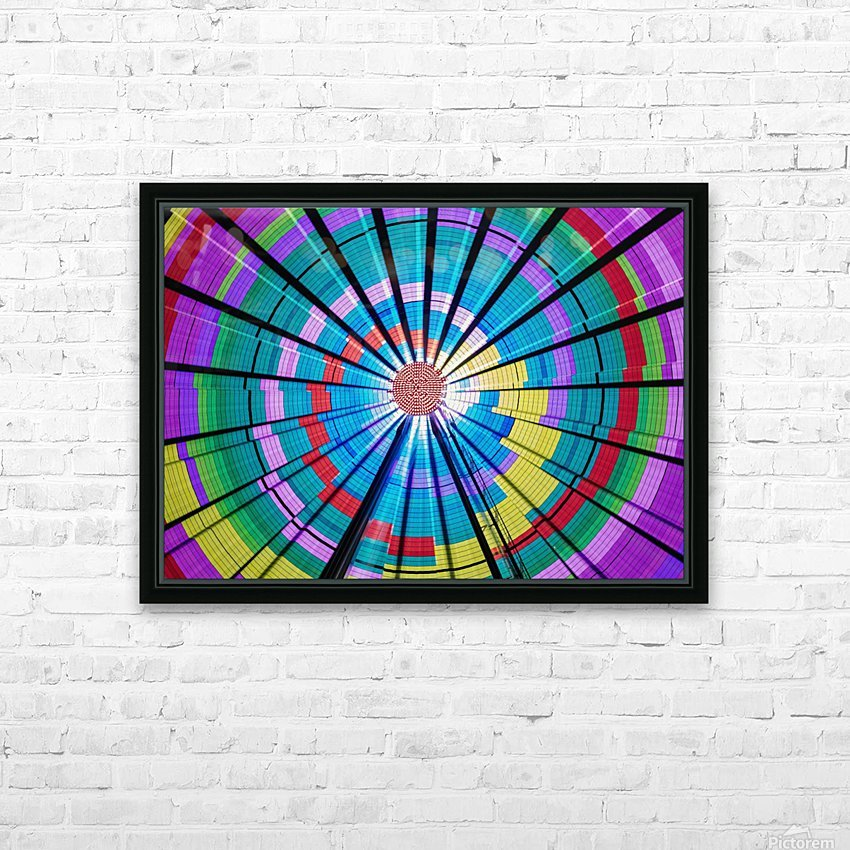 Long exposure photograph showcasing the many color combinations the Big Wheel produces at night; Seattle, Washington, United States of America HD Sublimation Metal print with Decorating Float Frame (BOX)