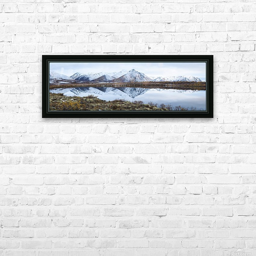 Mount Adney reflected in a pond along the Dempster Highway in the northern Yukon; Yukon, Canada HD Sublimation Metal print with Decorating Float Frame (BOX)