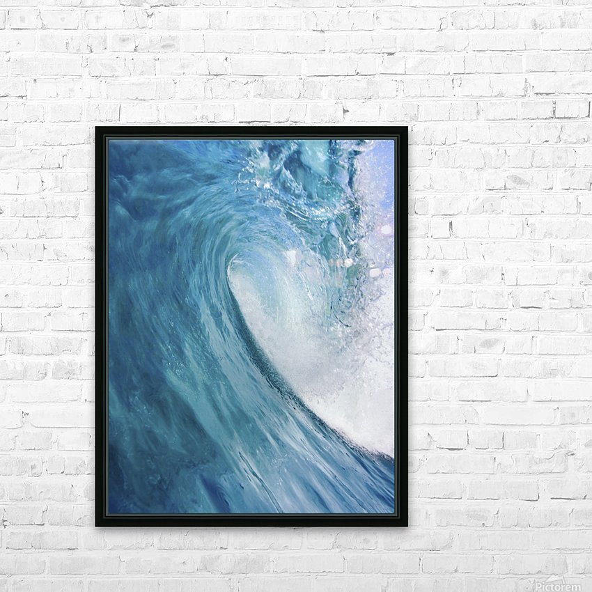 Blue Ocean Wave HD Sublimation Metal print with Decorating Float Frame (BOX)