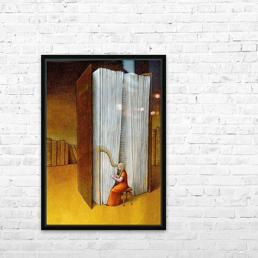 harp HD Sublimation Metal print with Decorating Float Frame (BOX)