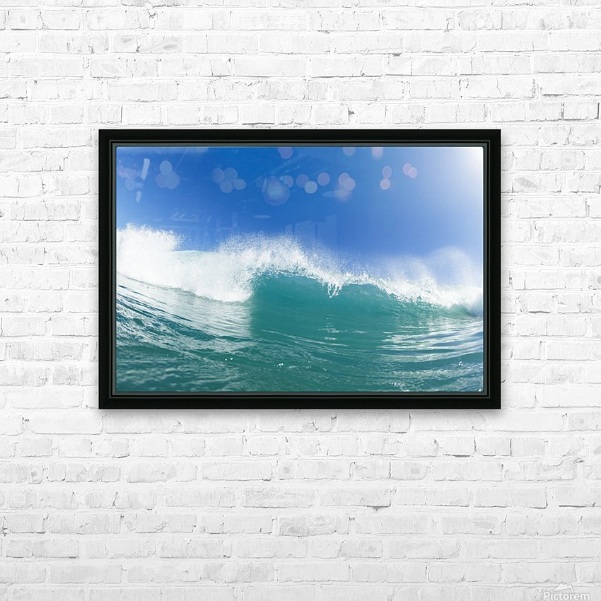 Blue Ocean Wave and Sunny Blue Sky HD Sublimation Metal print with Decorating Float Frame (BOX)