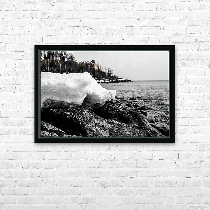 Spring Lakeshore HD Sublimation Metal print with Decorating Float Frame (BOX)