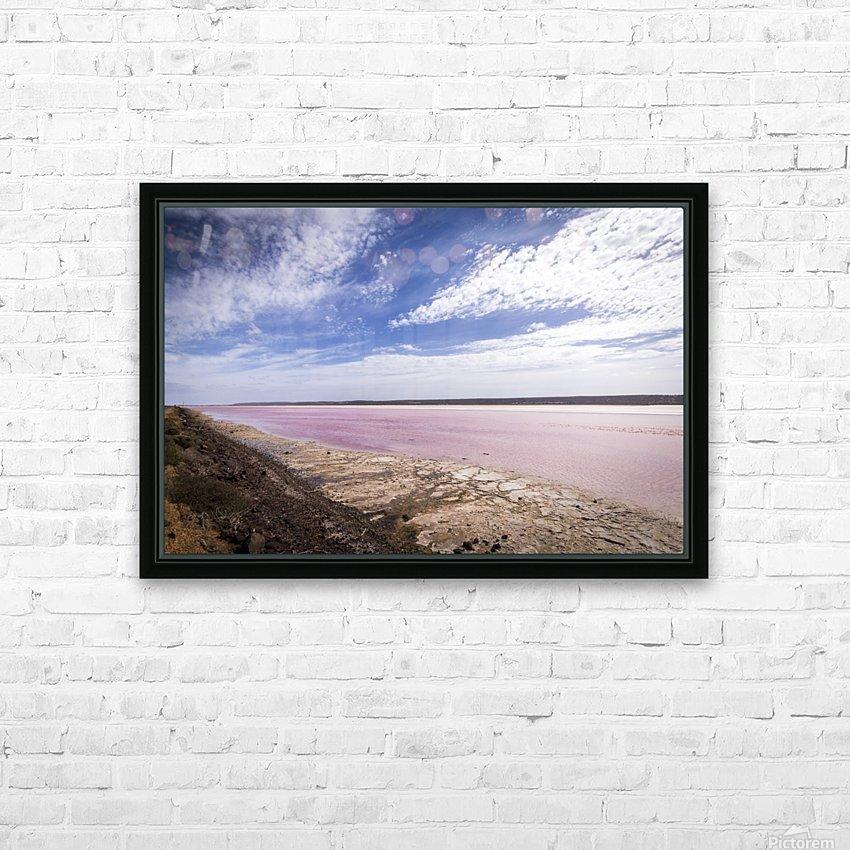 Pink Lake HD sublimation métal imprimé avec décoration flotteur cadre (boîte)