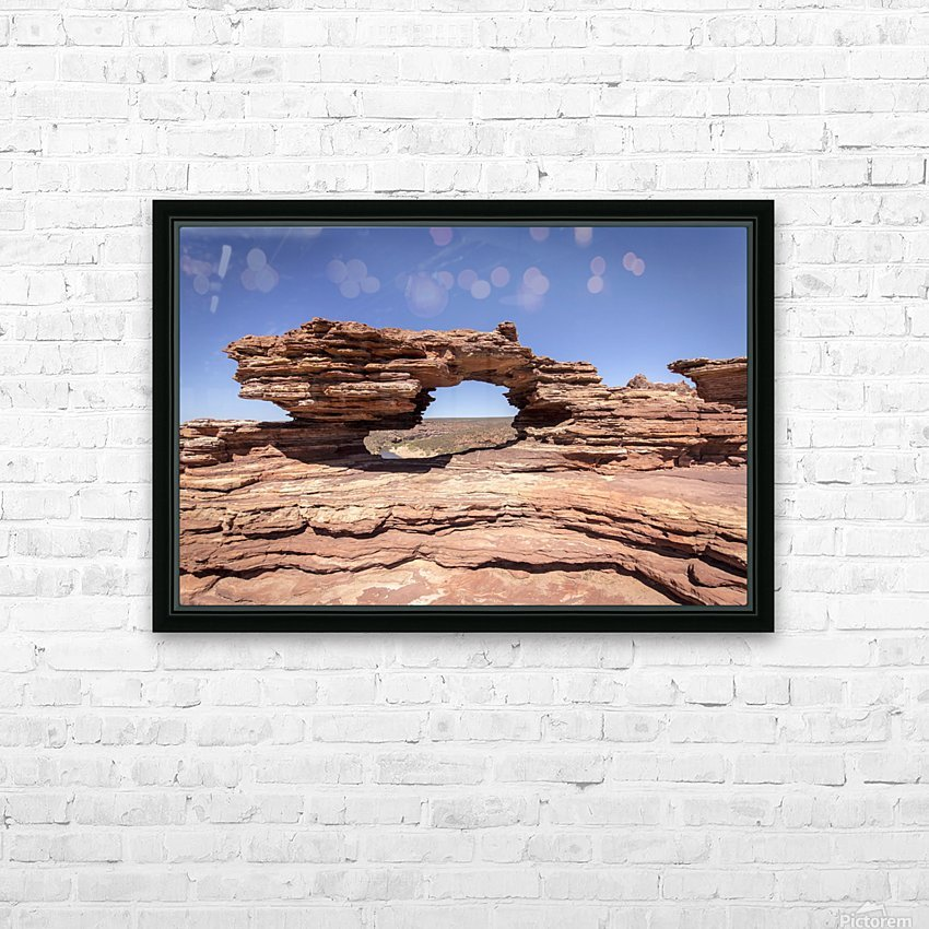 Natures Window HD Sublimation Metal print with Decorating Float Frame (BOX)