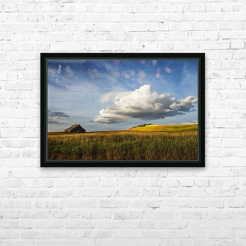 Wheat field and old wooden barn; Palouse, Washington, United States of America HD Sublimation Metal print with Decorating Float Frame (BOX)