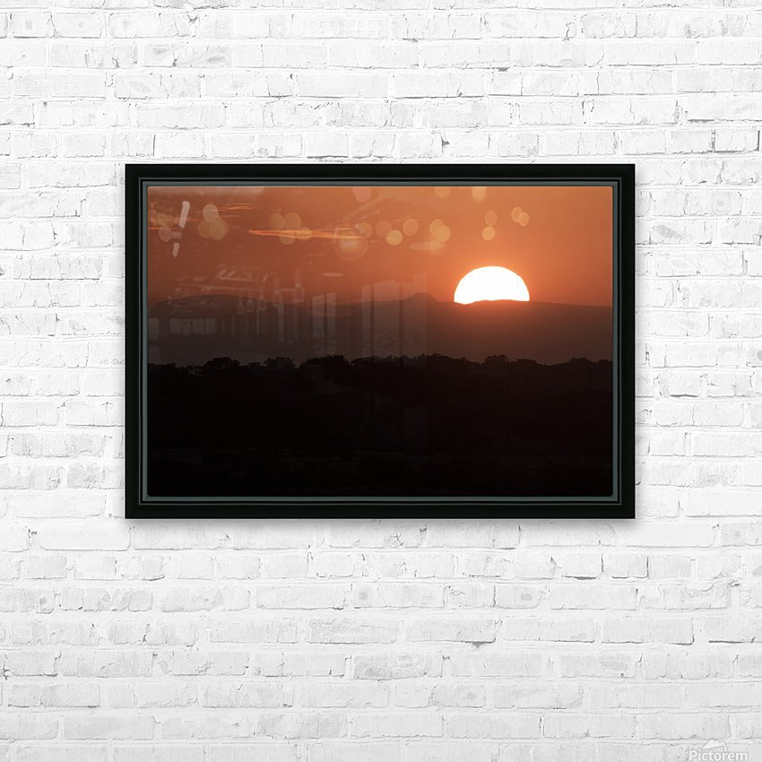 Setting sun overtop of the African landscape; South Africa HD Sublimation Metal print with Decorating Float Frame (BOX)