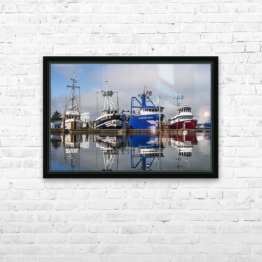 Fishing boats moored at the dock; Warrenton, Oregon, United States of America HD Sublimation Metal print with Decorating Float Frame (BOX)