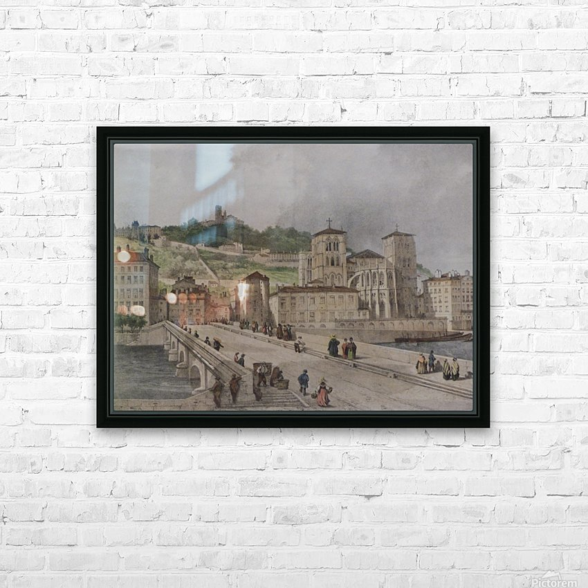 Le pont Tilsitt HD Sublimation Metal print with Decorating Float Frame (BOX)