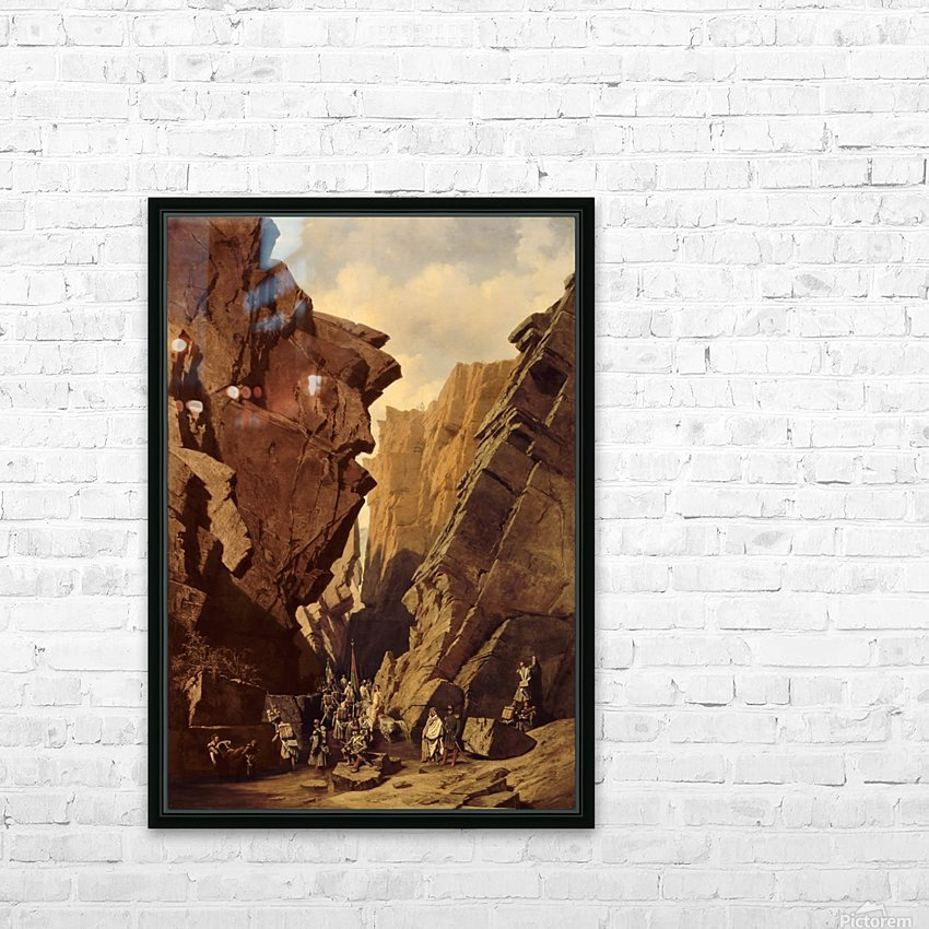 Army passing through the cliffs HD Sublimation Metal print with Decorating Float Frame (BOX)
