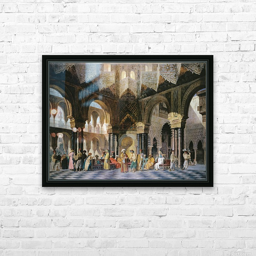 Interior of an oriental mosque HD Sublimation Metal print with Decorating Float Frame (BOX)