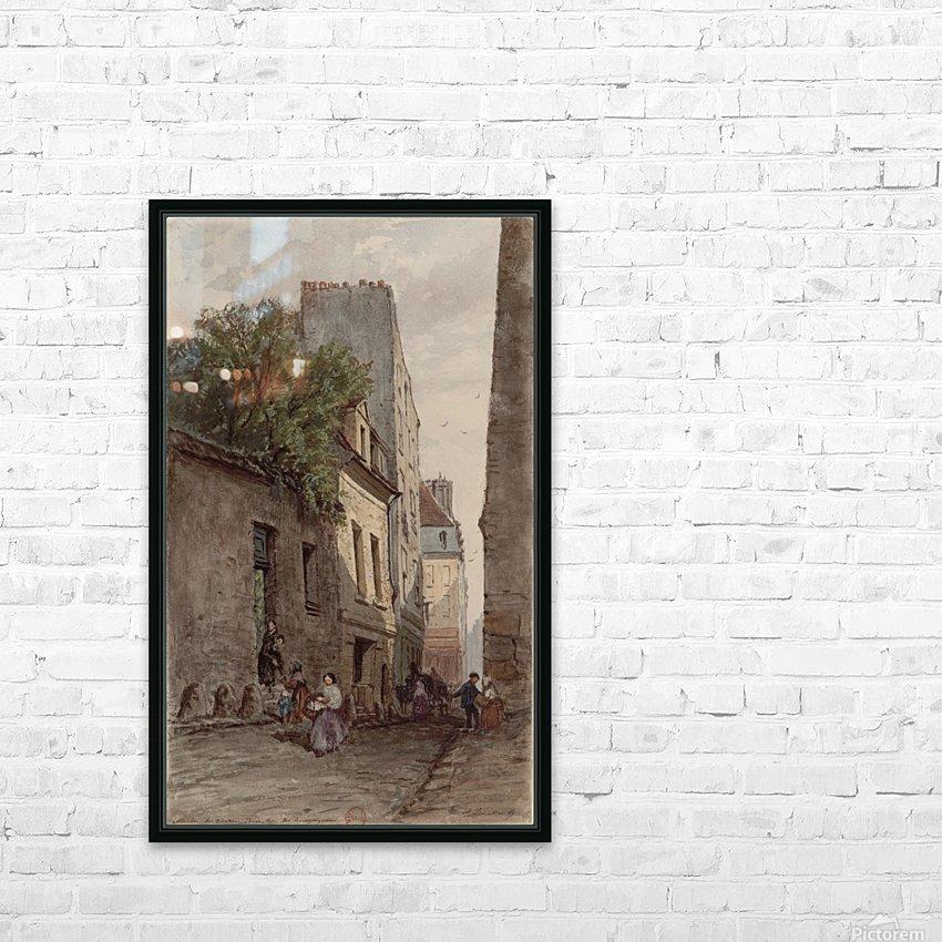 Maison du diacre Francois de Paris rue des Bourguignons HD Sublimation Metal print with Decorating Float Frame (BOX)