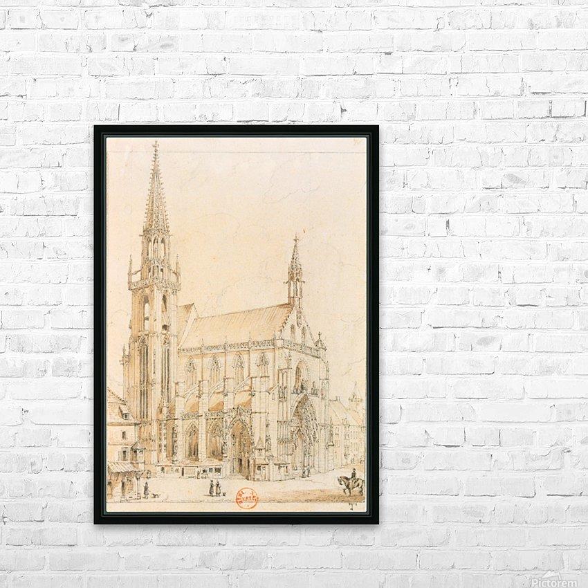 Eglise de Thann HD Sublimation Metal print with Decorating Float Frame (BOX)