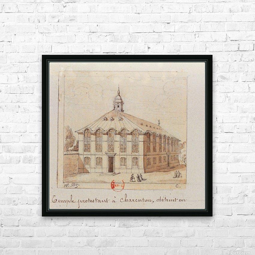 Temple protestant a Charenton detruit en 1686 HD Sublimation Metal print with Decorating Float Frame (BOX)