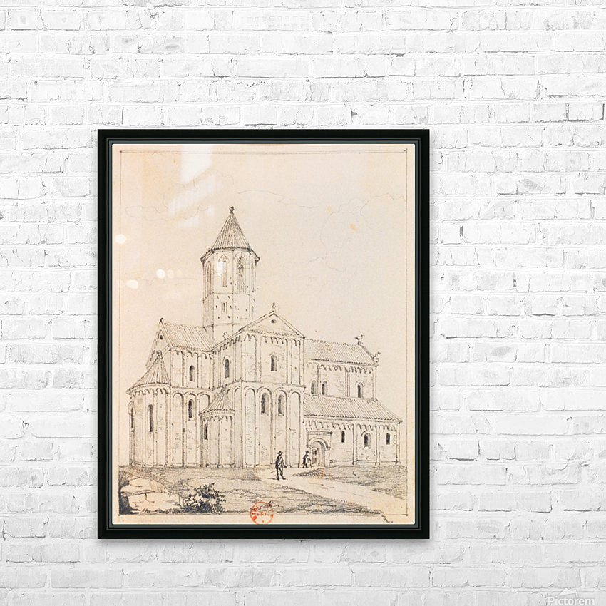 Eglise de Rosheim HD Sublimation Metal print with Decorating Float Frame (BOX)