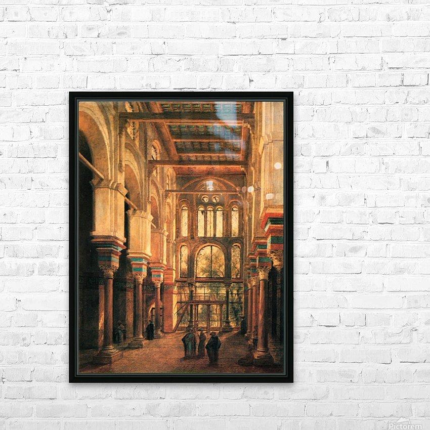 Interieur de la mosquee du Mourestan HD Sublimation Metal print with Decorating Float Frame (BOX)