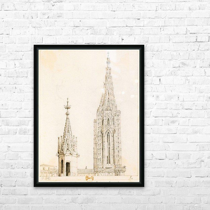 Tour et fleche de la cathedrale de Strasbourg HD Sublimation Metal print with Decorating Float Frame (BOX)
