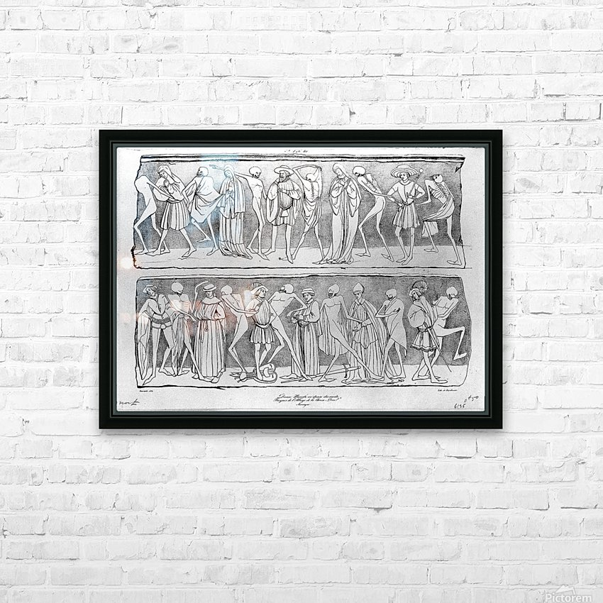 Dance of death HD Sublimation Metal print with Decorating Float Frame (BOX)