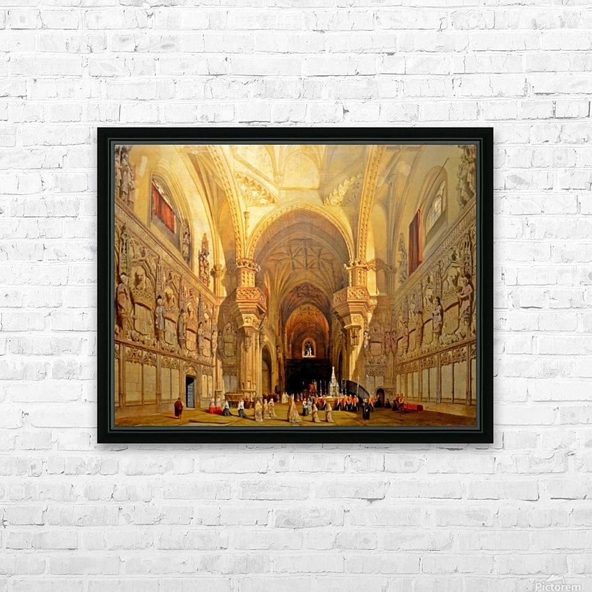 Interieur de la cathedrale Saint-Jean-des-Rois de Tolede HD Sublimation Metal print with Decorating Float Frame (BOX)