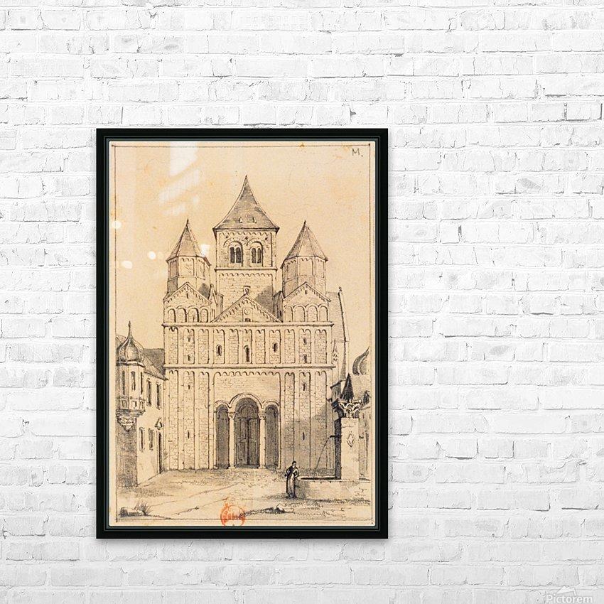 Eglise de Marrmoutier HD Sublimation Metal print with Decorating Float Frame (BOX)