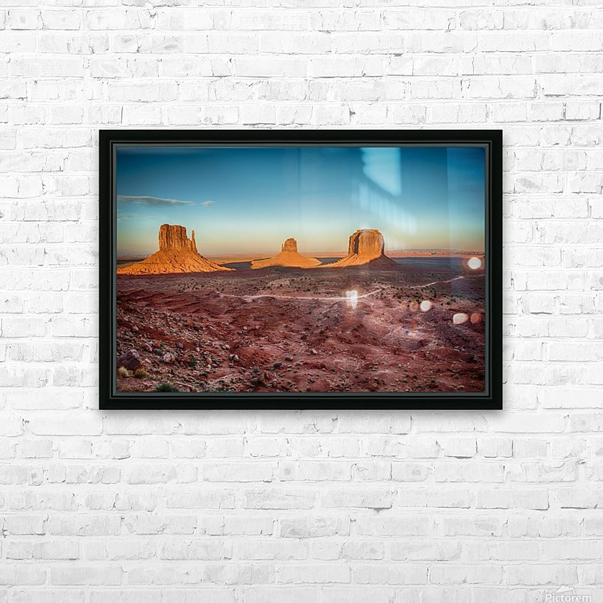 Monument Valley HDR (16 of 21) HD Sublimation Metal print with Decorating Float Frame (BOX)