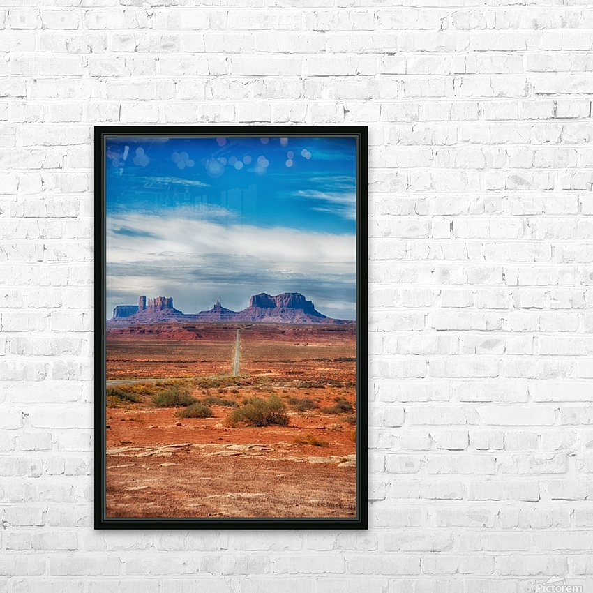 Monument Valley 1 HD Sublimation Metal print with Decorating Float Frame (BOX)
