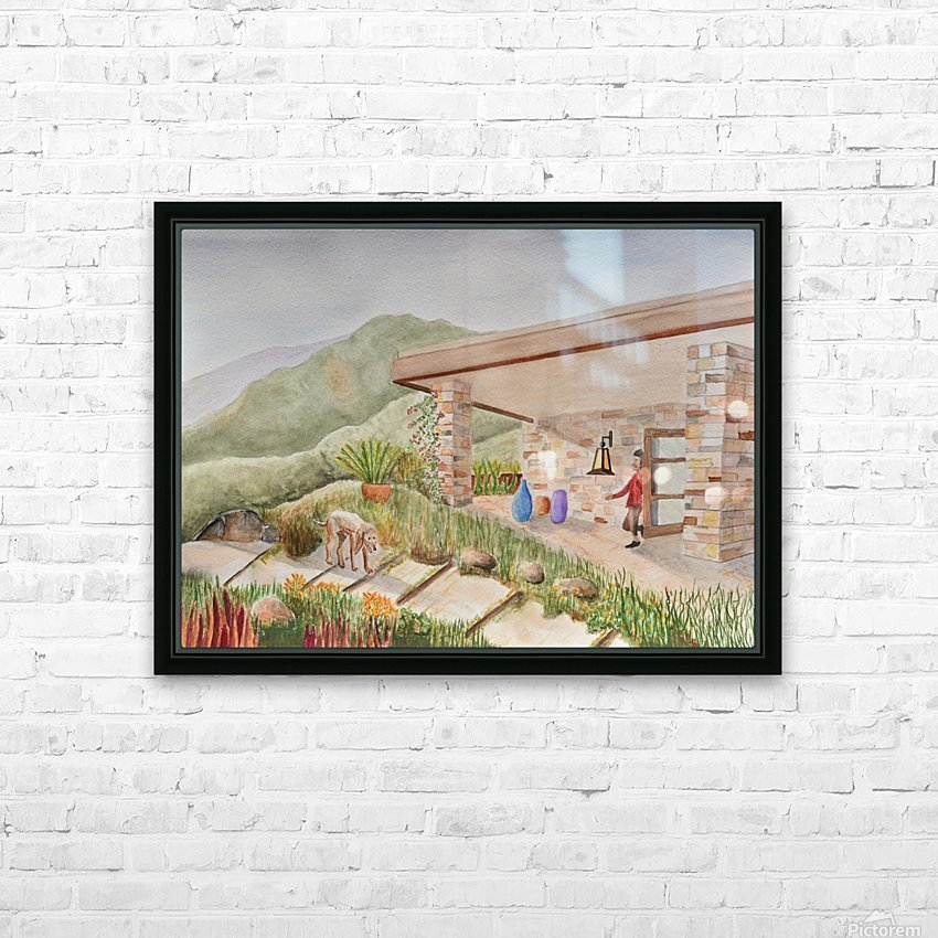 Back Patio HD Sublimation Metal print with Decorating Float Frame (BOX)
