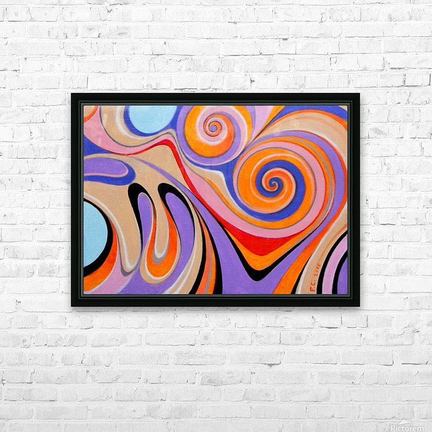 Ink drop HD Sublimation Metal print with Decorating Float Frame (BOX)