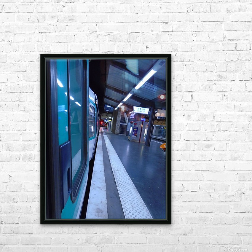 Paris metro HD Sublimation Metal print with Decorating Float Frame (BOX)