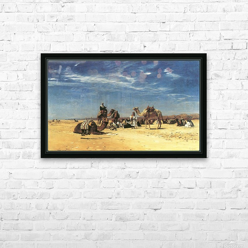 Rast in der Araba HD Sublimation Metal print with Decorating Float Frame (BOX)