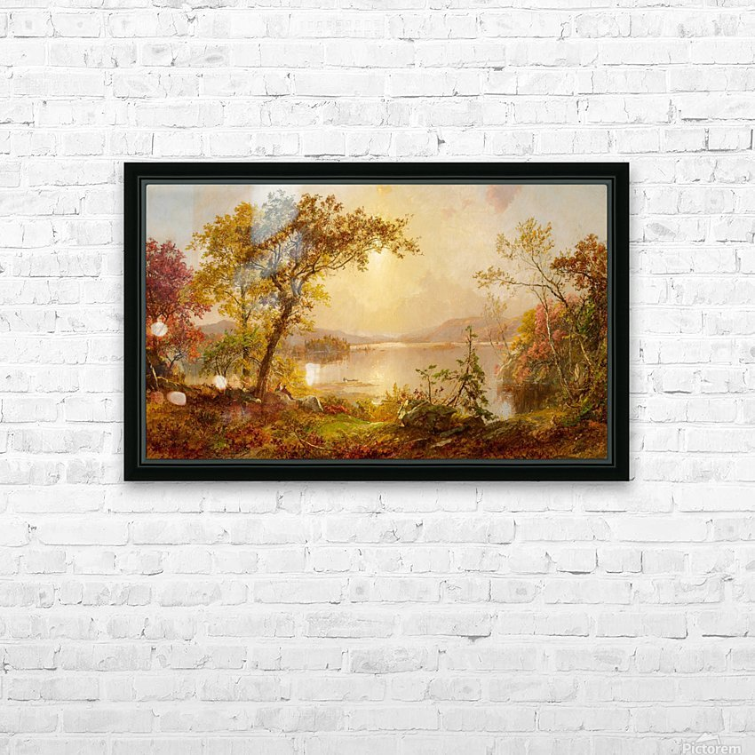 Lake Autumn on the Hudson HD Sublimation Metal print with Decorating Float Frame (BOX)