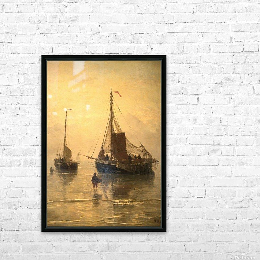 Aankomst van de Vis HD Sublimation Metal print with Decorating Float Frame (BOX)