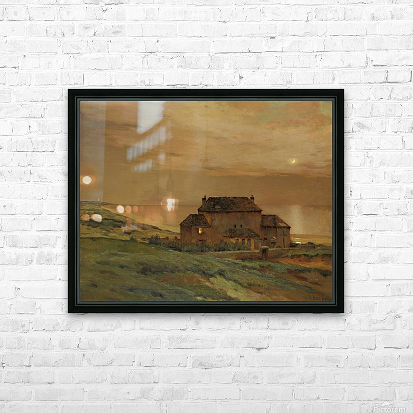 A castle HD Sublimation Metal print with Decorating Float Frame (BOX)