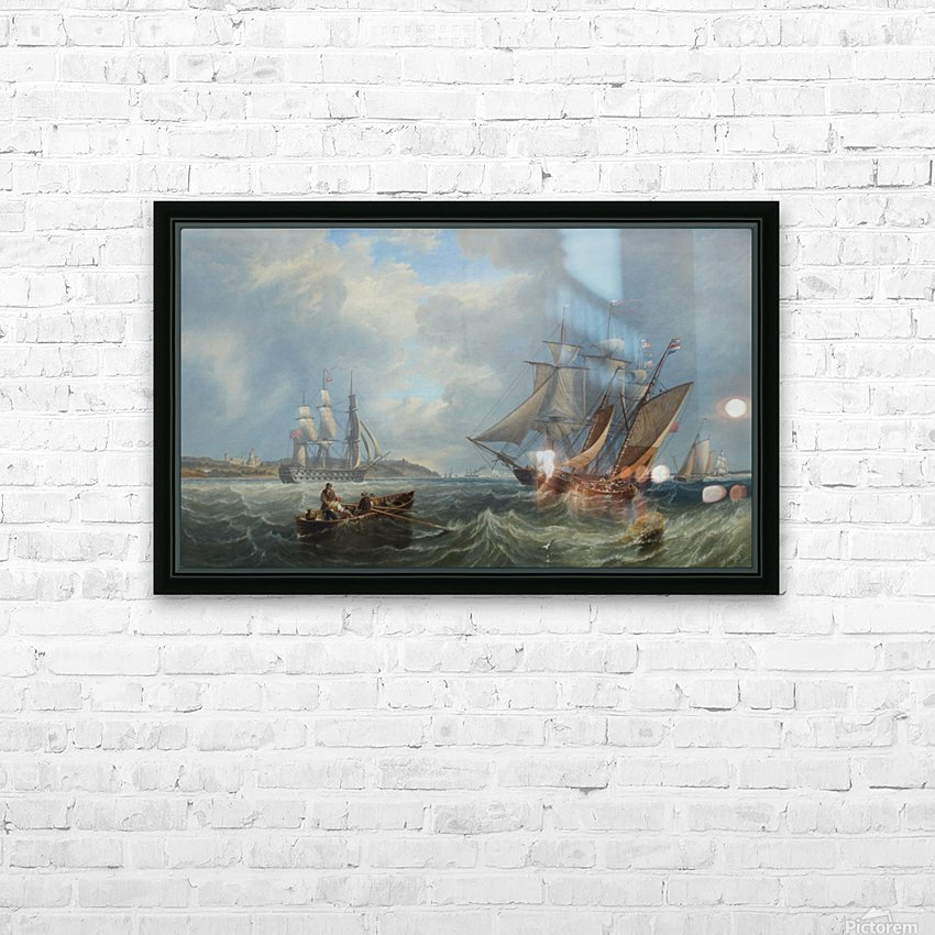 Boats by the sea HD Sublimation Metal print with Decorating Float Frame (BOX)