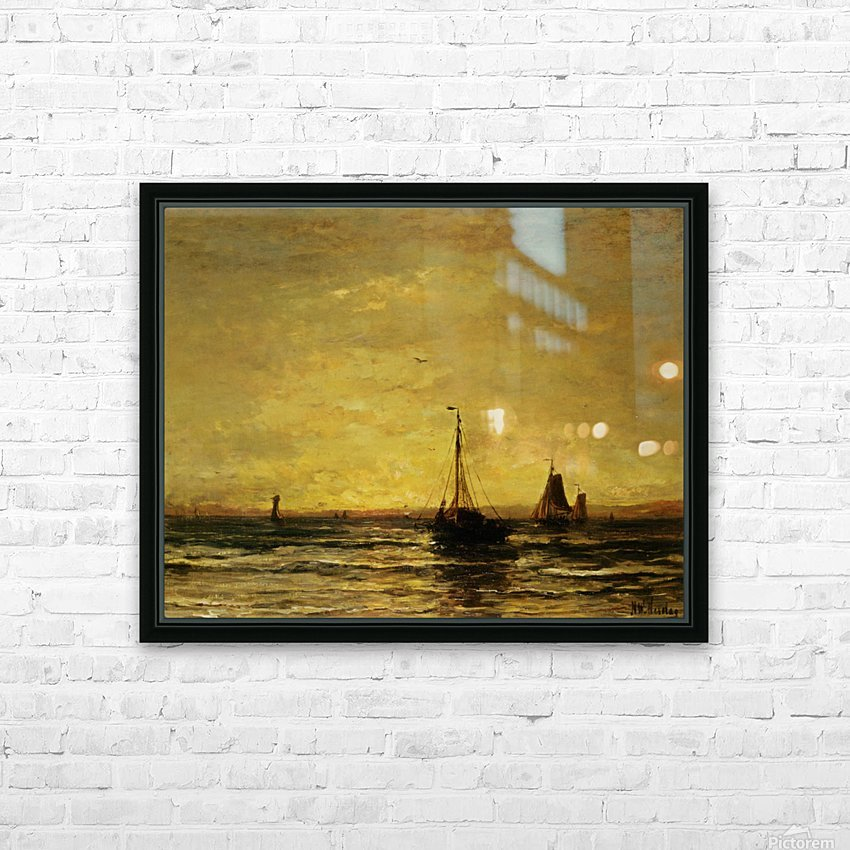 The Return of the Fleet at Sunset HD Sublimation Metal print with Decorating Float Frame (BOX)