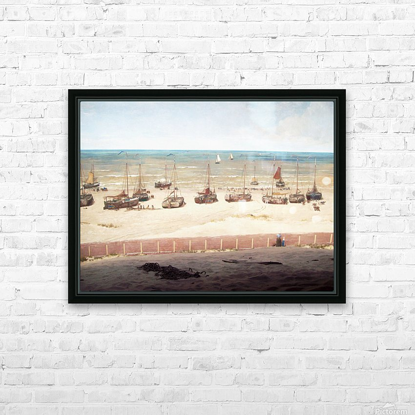 Scheveningen in 1880 HD Sublimation Metal print with Decorating Float Frame (BOX)