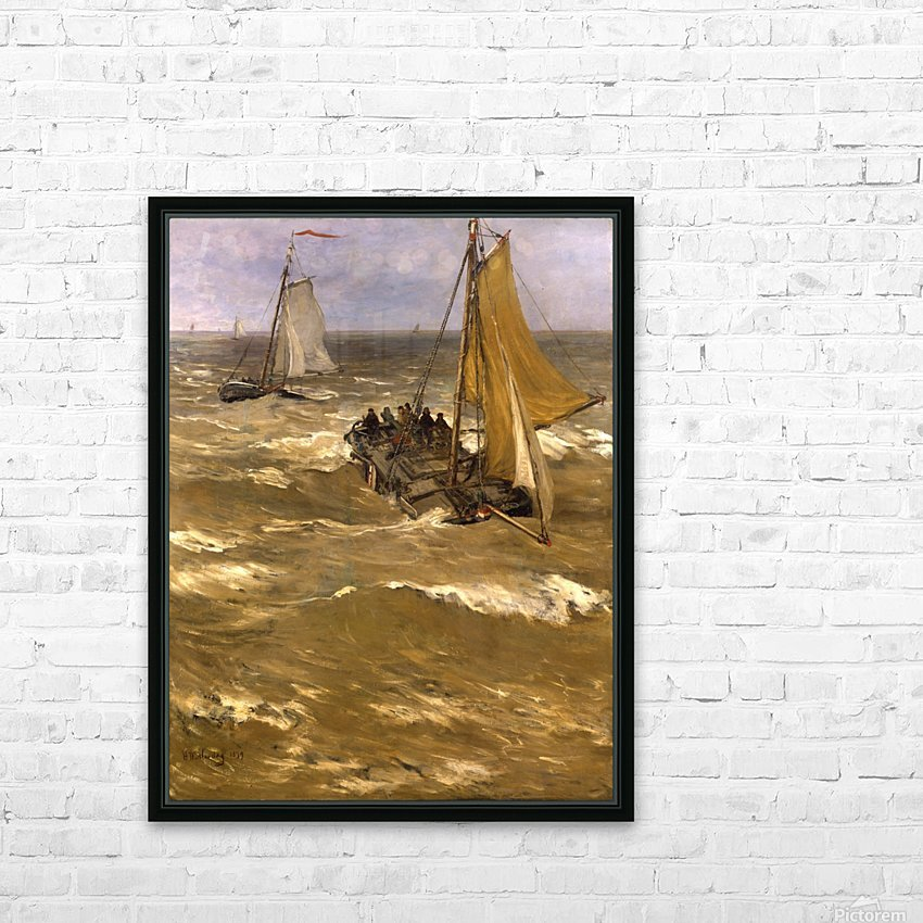 Return fishing ships Sun HD Sublimation Metal print with Decorating Float Frame (BOX)