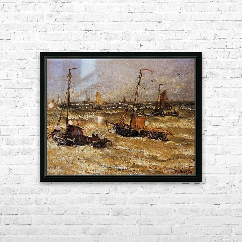 Ships For Anchor Sun HD Sublimation Metal print with Decorating Float Frame (BOX)