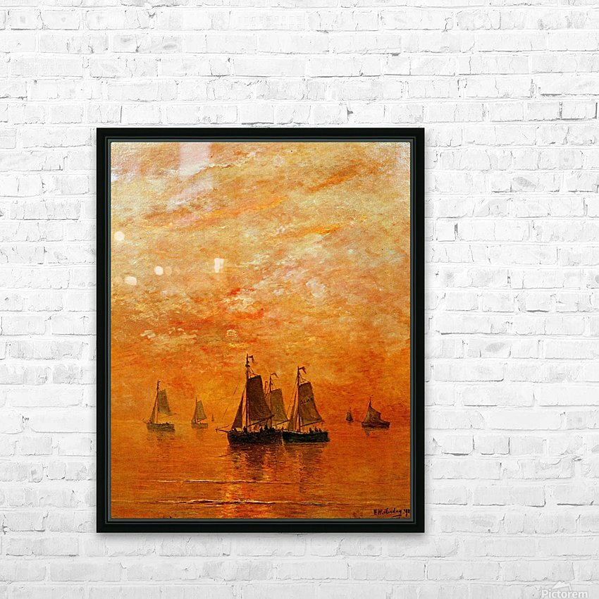 Ships on sunset HD Sublimation Metal print with Decorating Float Frame (BOX)