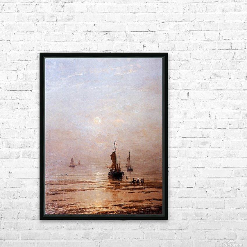 Summer Evening Scheveningen Sun HD Sublimation Metal print with Decorating Float Frame (BOX)