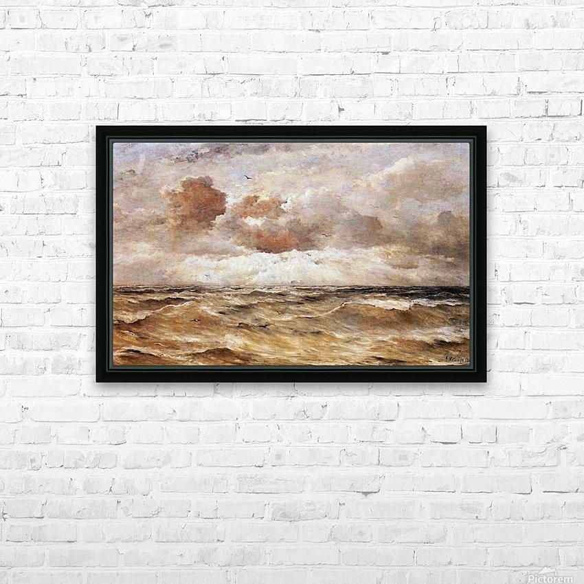 La Mer du Nord Sun HD Sublimation Metal print with Decorating Float Frame (BOX)