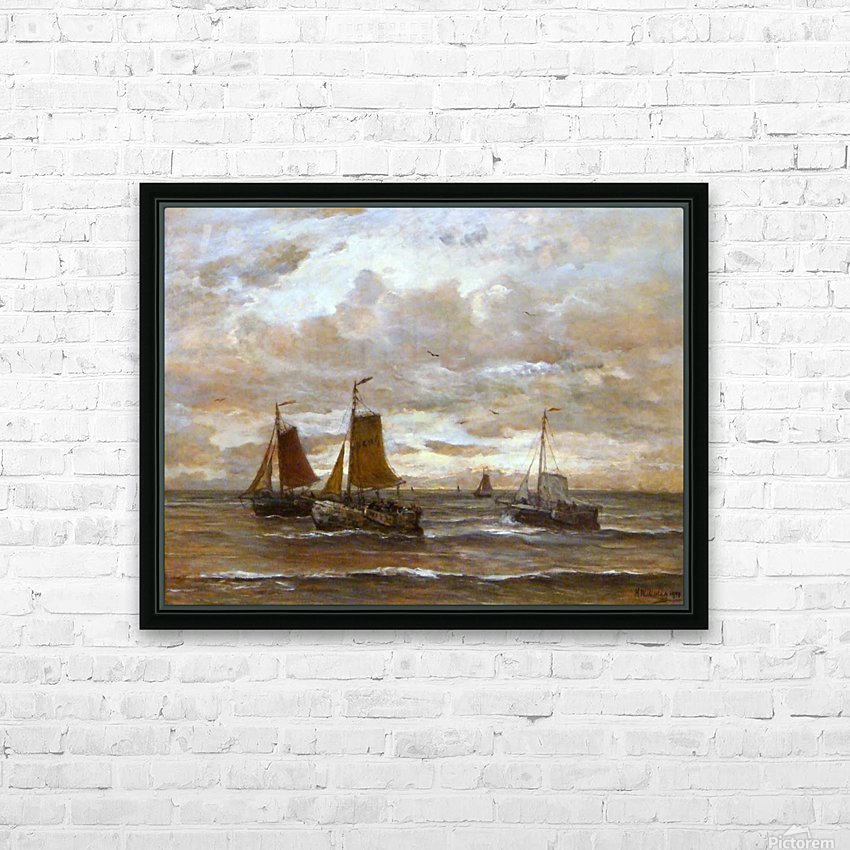 Zonsondergang HD Sublimation Metal print with Decorating Float Frame (BOX)