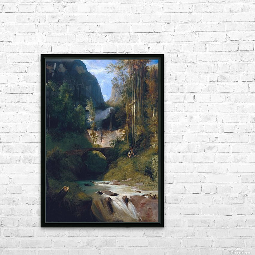 Schlucht bei Amalfi, 1831 HD Sublimation Metal print with Decorating Float Frame (BOX)
