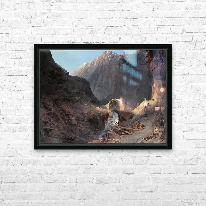 Bau der Teufelsbrucke HD Sublimation Metal print with Decorating Float Frame (BOX)