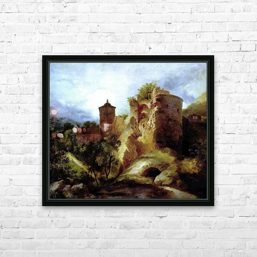 A deserted castle HD Sublimation Metal print with Decorating Float Frame (BOX)