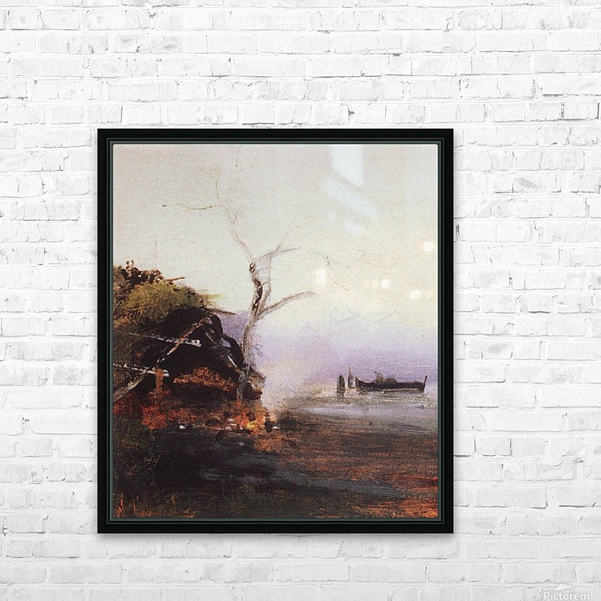 Russian landscape and Rook HD Sublimation Metal print with Decorating Float Frame (BOX)