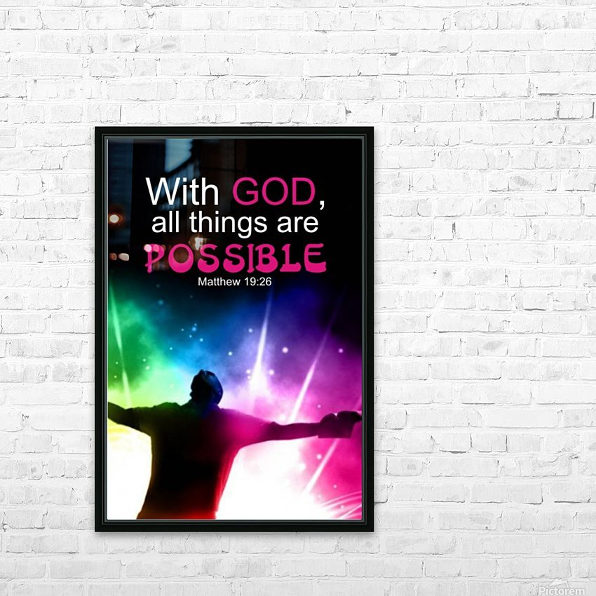 All things Possible HD Sublimation Metal print with Decorating Float Frame (BOX)