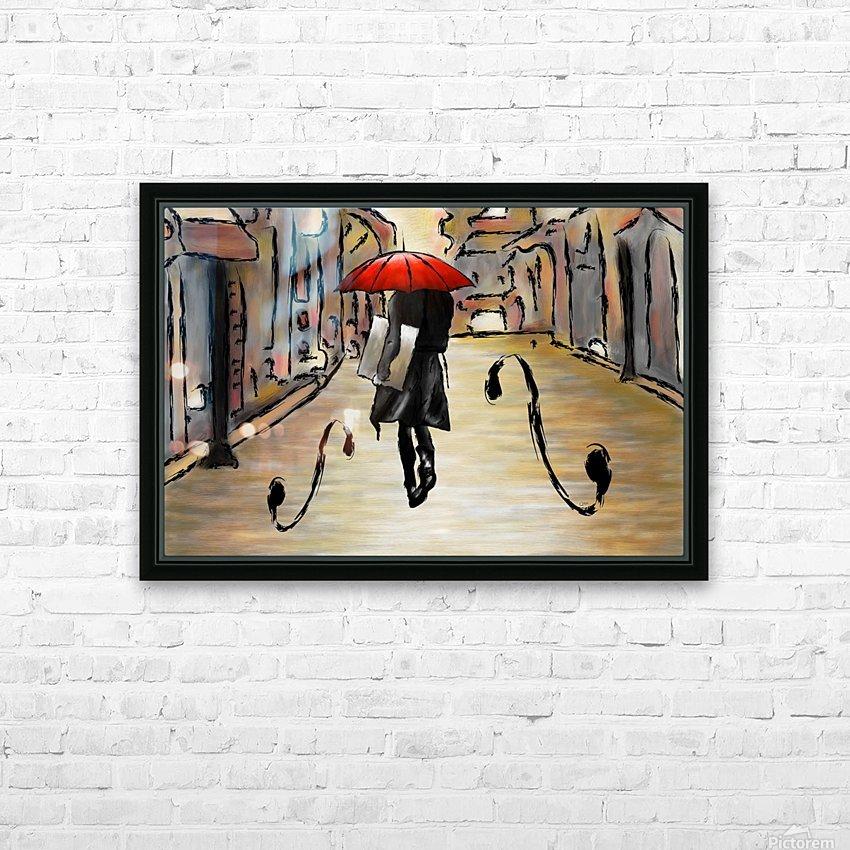 Hafanissia V1 - lady umbrella HD Sublimation Metal print with Decorating Float Frame (BOX)
