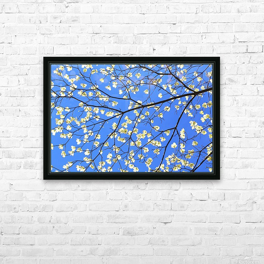 Blue Sky and Dogwood HD Sublimation Metal print with Decorating Float Frame (BOX)