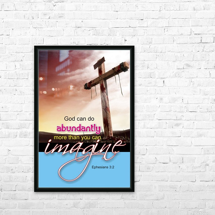 GOD CAN DO HD Sublimation Metal print with Decorating Float Frame (BOX)